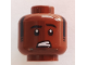 Part No: 3626cpb2125  Name: Minifigure, Head Black Eyebrows, Sideburns, Worried Pattern - Hollow Stud