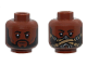 Part No: 3626cpb2345  Name: Minifigure, Head Dual Sided Black Eyebrows, Beard, Closed Mouth / Pilot Breathing Mask Pattern - Hollow Stud