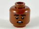 Part No: 3626cpb2393  Name: Minifigure, Head Black Eyebrows, Mouth Open Showing Upper Teeth, Surprised Pattern - Hollow Stud