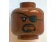 Part No: 3626cpb2457  Name: Minifigure, Head Male Eyepatch with Reflection, Black Goatee and Cheek Lines Pattern (Nick Fury) - Hollow Stud
