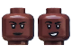 Part No: 3626cpb2490  Name: Minifigure, Head Dual Sided Female, Black Eyebrows, Lipstick, Closed Mouth / Lopsided Smile with White Teeth Pattern - Hollow Stud
