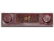 Part No: 41740pb001  Name: Plate, Modified 1 x 4 with 2 Studs with Groove with 'of' and Fur Pattern (Sticker) - Set 30628