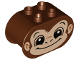 Part No: 4198pb33  Name: Duplo, Brick 2 x 4 x 2 Rounded Ends with Monkey Face Pattern