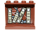 Part No: 60581pb023  Name: Panel 1 x 4 x 3 with Side Supports - Hollow Studs with Books, Cobweb, Stones and Arrow Left Pattern on Inside (Sticker) - Set 9473