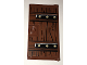 Part No: 60616pb028  Name: Door 1 x 4 x 6 with Stud Handle with Wood Grain and Metal Brackets with 6 Gold Bolts Pattern (Sticker) - Set 70594