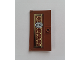 Part No: 60616pb040  Name: Door 1 x 4 x 6 with Stud Handle with Pearl Gold Ornament and '177A' Pattern (Sticker) - Set 76108