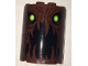 Part No: 6259pb033  Name: Cylinder Half 2 x 4 x 4 with Tree Bark Lines, Lime Eyes and Open Mouth Pattern (Sticker) - Set 75902