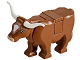 Part No: 64452pb01c02  Name: Cow with Pink Muzzle and White Spot on Head Pattern (Tile on Top)