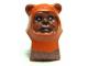 Part No: 64805pb03  Name: Minifigure, Head Modified SW Ewok with Dark Orange Hood with Reddish Brown Stitching Pattern