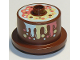Part No: 65157pb03  Name: Duplo Food Cake with Rainbow Topping and Frosting Pattern