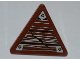 Part No: 892pb023R  Name: Road Sign 2 x 2 Triangle with Clip with Wood Grain and 3 Nails Pattern Model Right Side (Sticker) - Set 9446