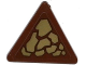Part No: 892pb026L  Name: Road Sign 2 x 2 Triangle with Clip with Dark Tan Scales Pattern Model Left Side (Sticker) - Set 70599