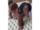 Part No: 93083c01pb03  Name: Horse with 2 x 2 Cutout, Brown Eyes, White Blaze Pattern and Black Mane & Tail Pattern