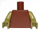 Part No: 973c58  Name: Torso Plain / Olive Green Arms / Olive Green Hands
