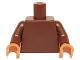 Part No: 973c72  Name: Torso Plain / Reddish Brown Arms / Nougat Hands