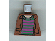 Part No: 973pb0315  Name: Torso Harry Potter Open Shirt and Striped Sweater Pattern