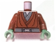 Part No: 973pb0416c01  Name: Torso SW Jedi Robe, Silver Snaffle Bit Buckle Pattern (Kit Fisto) / Reddish Brown Arms / Sand Green Hands