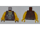 Part No: 973pb1016c01  Name: Torso Dino Vest with String Pattern / Yellow Arms / Yellow Hands