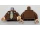 Part No: 973pb2617c01  Name: Torso Jacket with Pockets and Badges over Tan Shirt Pattern / Reddish Brown Arms / Light Flesh Hands