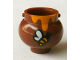 Part No: 98374pb01  Name: Minifigure, Utensil Pot Small with Handle Holders and Dripping Honey and Bee Pattern