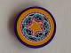 Part No: 14769pb286  Name: Tile, Round 2 x 2 with Bottom Stud Holder with Star and Floral Ornament Pattern (Sticker) - Set 41313