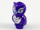 Part No: 21333pb04  Name: Owl, Elves with Metal Blue Beak, Silver Chest and Back, Around Eyes Pattern
