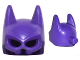 Part No: 28777  Name: Minifigure, Headgear Mask Batgirl with Attachment for Ponytail