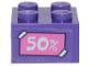 Part No: 3003pb112  Name: Brick 2 x 2 with '50%' on Dark Pink Label Pattern (Sticker) - Set 41409