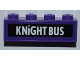 Part No: 3010pb154  Name: Brick 1 x 4 with 'KNIGHT BUS' Pattern (Sticker) - Set 4866