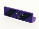 Part No: 30413pb046  Name: Panel 1 x 4 x 1 with Black and Dark Purple Danger Stripes and 3 Bullet Holes Pattern (Sticker) - Set 6864