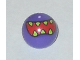 Part No: 32474pb012  Name: Technic, Ball Joint with Red Mouth and Lime Sharp Teeth Pattern