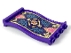 Part No: 34732pb01  Name: Panel 1 x 4 x 6 Wavy with Magic Carpet Pattern (Sticker) - Set 41161