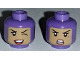 Part No: 3626cpb1847  Name: Minifigure, Head Dual Sided Female Balaclava with Medium Dark Flesh Face, Beauty Mark, Winking Smile with Teeth / Angry Pattern - Hollow Stud