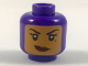 Part No: 3626cpb1982  Name: Minifigure, Head Female Balaclava with Medium Nougat Face, Beauty Mark, Crooked Smile Pattern - Hollow Stud