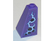 Part No: 3685pb02R  Name: Slope 75 2 x 2 x 3 Double Convex with Dark Purple Spots and Medium Blue and White Electricity Pattern Model Right Side (Sticker) - Set 70353