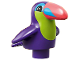 Part No: 43909pb01  Name: Duplo Bird Toucan with Lime Chest and Dark Pink Beak Pattern