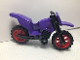 Part No: 50860c08  Name: Motorcycle Dirt Bike with Black Chassis and Red Wheels