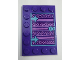 Part No: 6180pb124  Name: Tile, Modified 4 x 6 with Studs on Edges with Book Cover and Keyhole Pattern (Sticker) - Set 41169