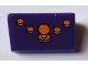 Part No: 85984pb193  Name: Slope 30 1 x 2 x 2/3 with 4 Orange Buttons and Joystick Pattern (Sticker) - Set 71016