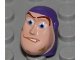 Part No: 88062pb02  Name: Minifigure, Head Modified Buzz Lightyear with Dirt Stains Pattern