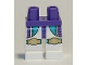 Part No: 970c01pb52  Name: Hips and White Legs with Dark Turquoise and Dark Purple Pockets and Gold Knee Pads Pattern