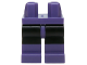 Part No: 970c11pb24  Name: Hips and Black Legs with Dark Purple Boots Pattern