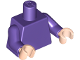 Part No: 973c43  Name: Torso Plain / Dark Purple Arms / Light Nougat Hands