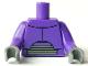 Part No: 973pb0630c99  Name: Torso Chest Armor and Gray Abdominal Joint Pattern (Zurg) / Dark Purple Arms LONG / Dark Bluish Gray Hands
