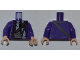 Part No: 973pb0943c01  Name: Torso Harry Potter Bus Driver Jacket and Black Tie Pattern / Dark Purple Arms / Light Nougat Hands