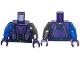 Part No: 973pb1764c01  Name: Torso Female Purple Armor with Dark Blue Belt Pattern / Flat Silver Arm Left / Blue Arm Right / Dark Purple Hands