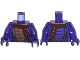 Part No: 973pb1974c01  Name: Torso Ninjago Snake with Black and Copper Scales and Shoulder Strap Pattern / Dark Purple Arms / Dark Purple Hands