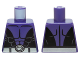 Part No: 973pb2039  Name: Torso Batman Muscles Outline, Open Black Shirt and Silver Belt Pattern