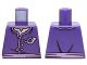 Part No: 973pb2092  Name: Torso Ninjago Jacket with Three White Buttons, Medium Lavender Belt, White Undershirt and Mail Horn Symbol Pattern