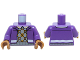Part No: 973pb2179c01  Name: Torso Jacket over Light Bluish Gray and Orange Argyle Sweater Vest Pattern / Dark Purple Arms / Medium Dark Flesh Hands